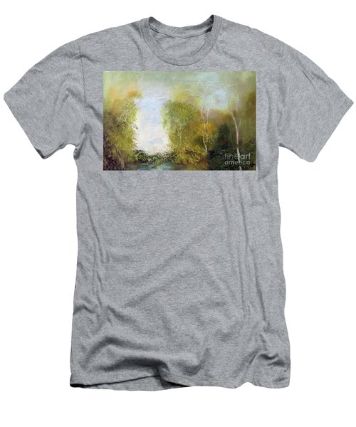 Men's T-Shirt (Athletic Fit) featuring the painting The Creek by Marlene Book