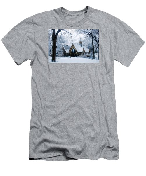 The Dairy In Winter Men's T-Shirt (Slim Fit) by James Kirkikis