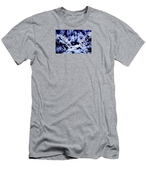 Men's T-Shirt (Slim Fit) featuring the photograph The Deep Blue - Winter Wonderland In Switzerland by Susanne Van Hulst