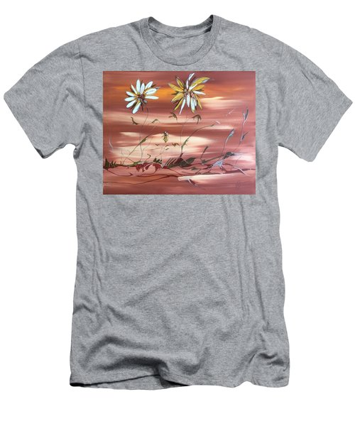 Men's T-Shirt (Slim Fit) featuring the painting The Desert Garden by Pat Purdy