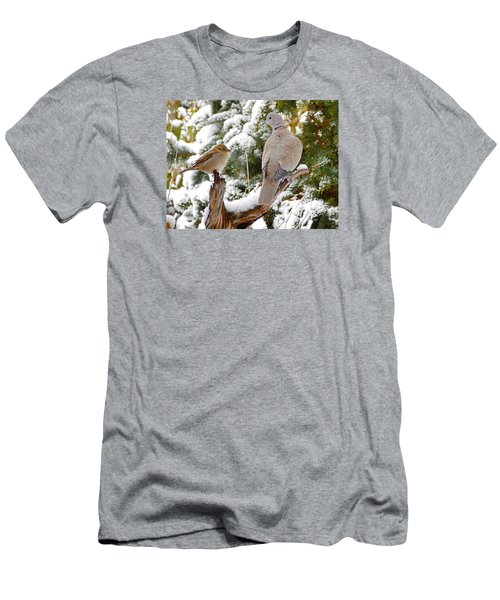 The Dove And The Swallow Men's T-Shirt (Slim Fit) by Deborah Moen