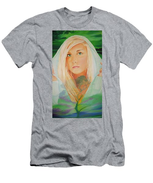 Men's T-Shirt (Slim Fit) featuring the painting The Dreaming Tree by Joshua Morton