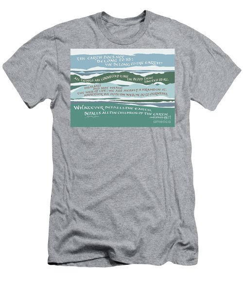 The Earth Does Not Belong To Us Men's T-Shirt (Athletic Fit)