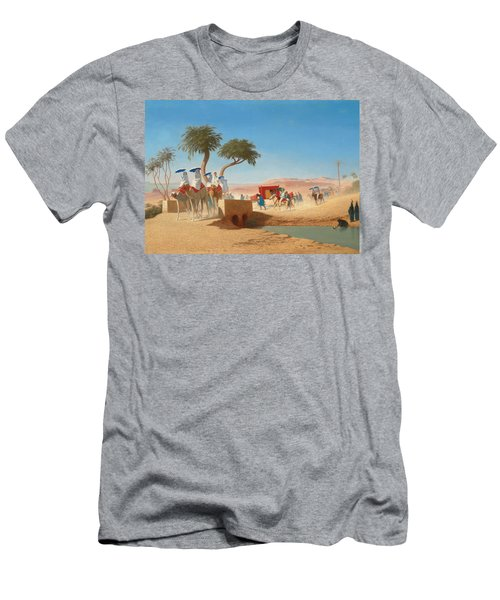 The Empress Eugenie Visiting The Pyramids Men's T-Shirt (Athletic Fit)