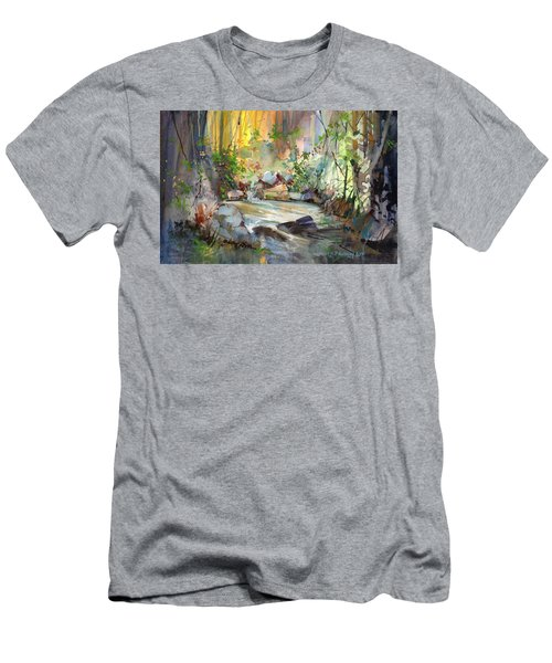 The Enchanted Pool Men's T-Shirt (Slim Fit) by P Anthony Visco