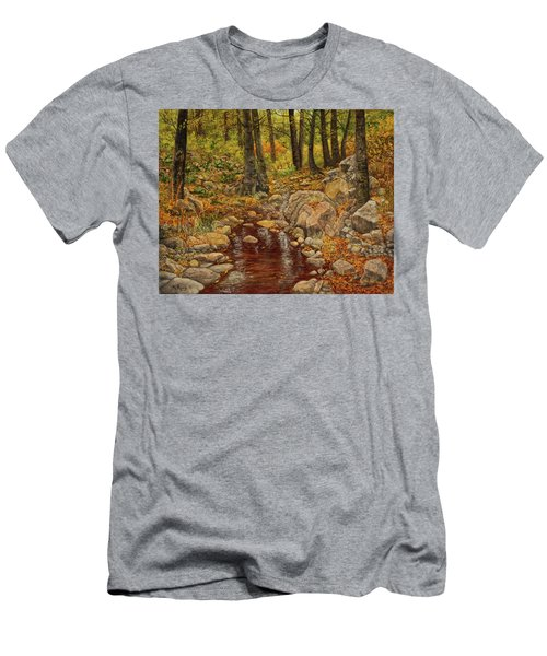 The Fall Stream Men's T-Shirt (Slim Fit) by Roena King