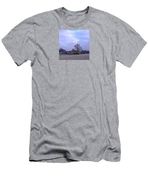 The Farm In Winter Men's T-Shirt (Athletic Fit)