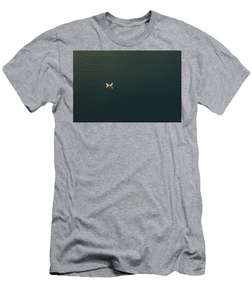 Men's T-Shirt (Slim Fit) featuring the photograph The Feather 2 by Timothy Latta