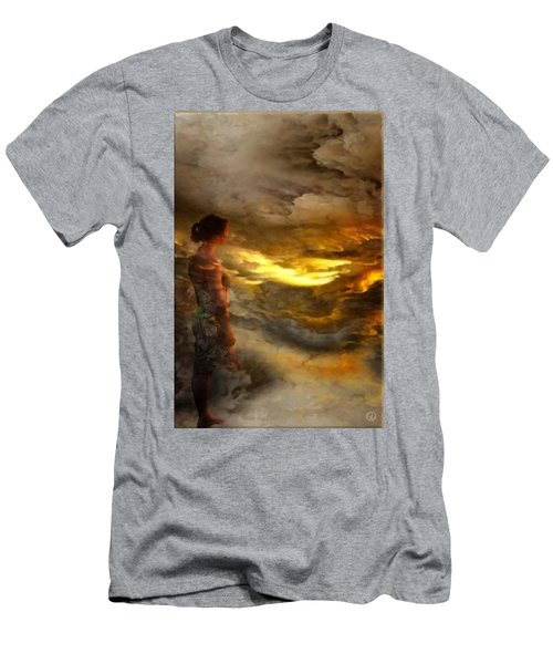 Men's T-Shirt (Slim Fit) featuring the digital art The First Step by Gun Legler