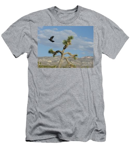 Men's T-Shirt (Slim Fit) featuring the photograph The Flight Of Raven. Lucerne Valley. by Ausra Huntington nee Paulauskaite