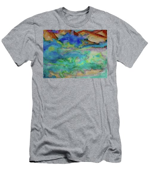 Men's T-Shirt (Slim Fit) featuring the painting The Fog Rolls In by Kim Nelson
