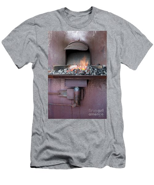 Men's T-Shirt (Athletic Fit) featuring the photograph The Forge by Linda Lees