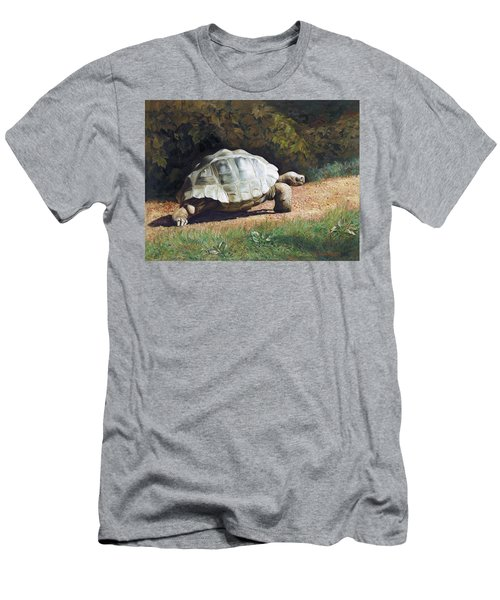 The Giant Tortoise Is Walking Men's T-Shirt (Athletic Fit)