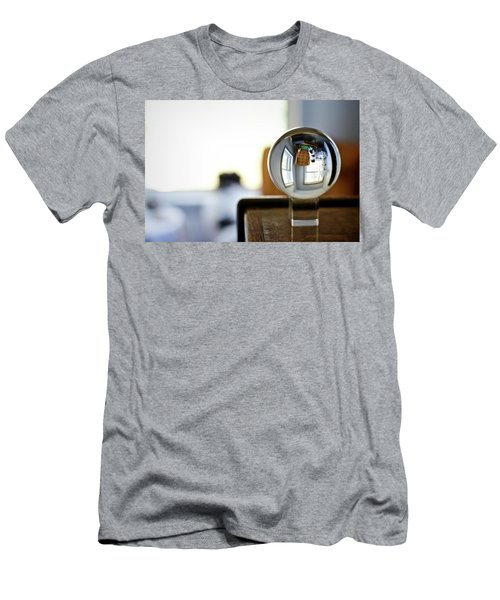 The Globe With Dog Men's T-Shirt (Athletic Fit)