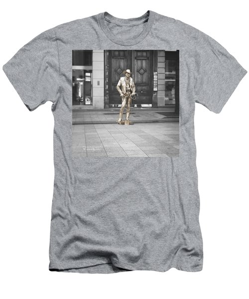 Men's T-Shirt (Athletic Fit) featuring the photograph The Golden Cowboy by Stwayne Keubrick