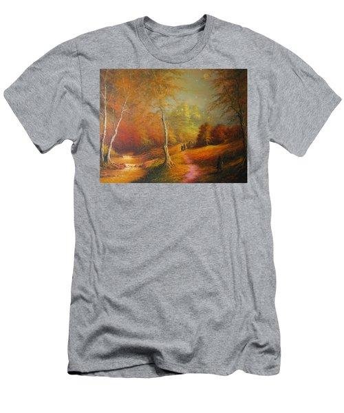 Golden Forest Of The Elves Men's T-Shirt (Athletic Fit)