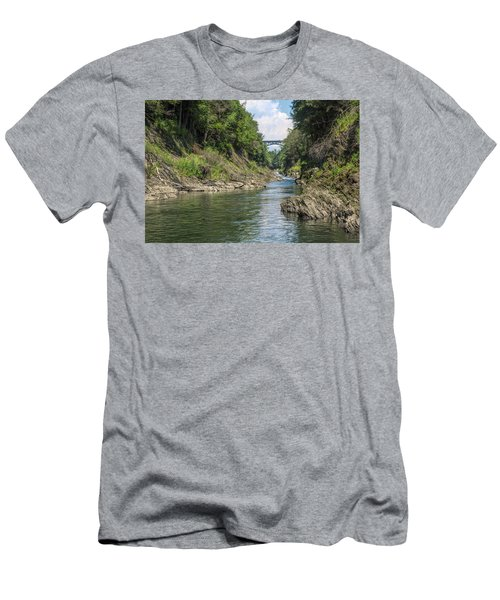 Men's T-Shirt (Athletic Fit) featuring the photograph The Grand Canyon Of Vermont by John M Bailey