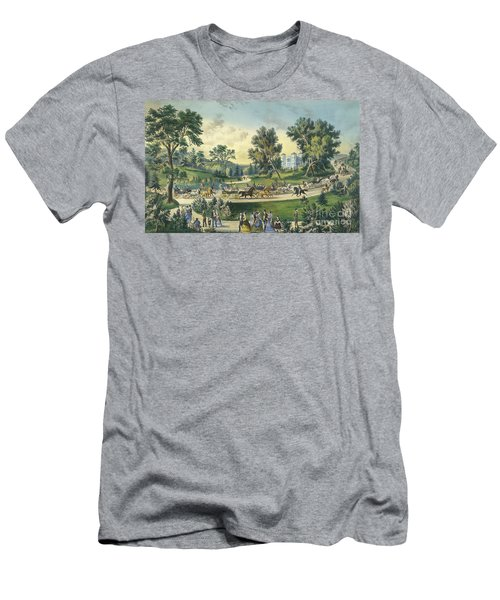 The Grand Drive, Central Park, New York, 1869 Men's T-Shirt (Athletic Fit)