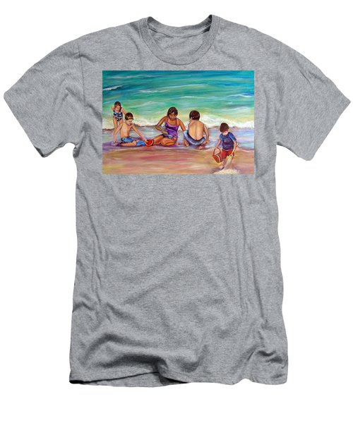 Men's T-Shirt (Slim Fit) featuring the painting The Grands by Patricia Piffath