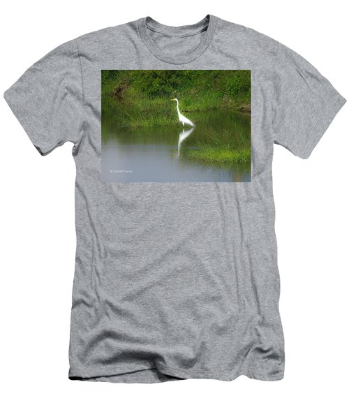 Great Egret By The Waters Edge Men's T-Shirt (Athletic Fit)