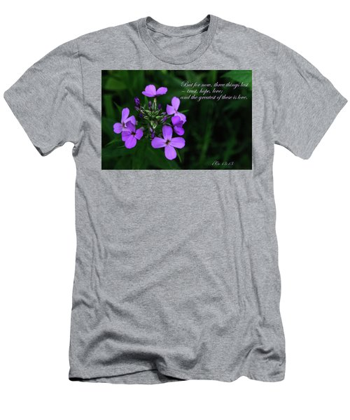 Men's T-Shirt (Athletic Fit) featuring the photograph The Greatest Is Love by Tikvah's Hope