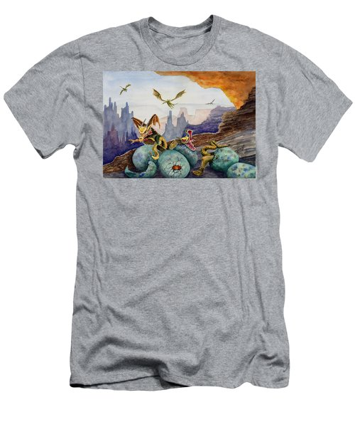 Men's T-Shirt (Athletic Fit) featuring the painting The Hatchlings by Sam Sidders