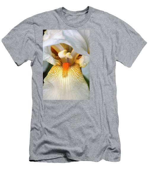 Men's T-Shirt (Slim Fit) featuring the photograph The Heart Of A Bearded Iris by Sheila Brown