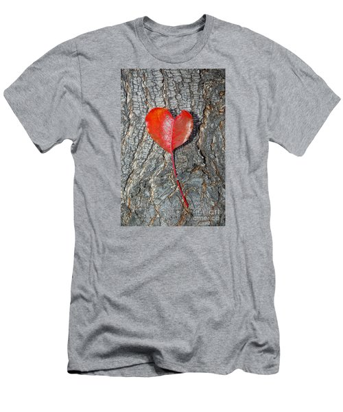 Men's T-Shirt (Slim Fit) featuring the photograph The Heart Of A Tree by Debra Thompson