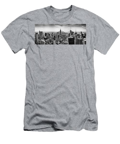 New York City Skyline Bw Men's T-Shirt (Athletic Fit)