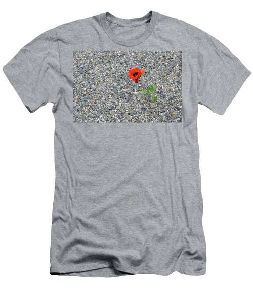 The Hopeful Poppy Men's T-Shirt (Athletic Fit)