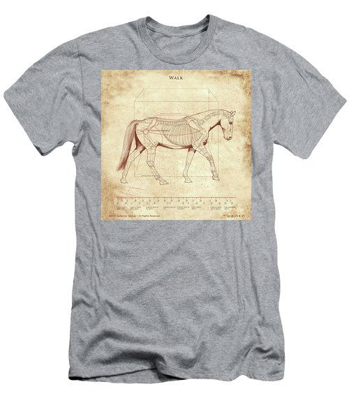 The Horse's Walk Revealed Men's T-Shirt (Slim Fit) by Catherine Twomey
