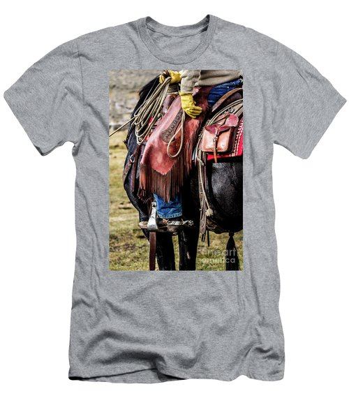 The Idaho Cowboy Western Art By Kaylyn Franks Men's T-Shirt (Athletic Fit)