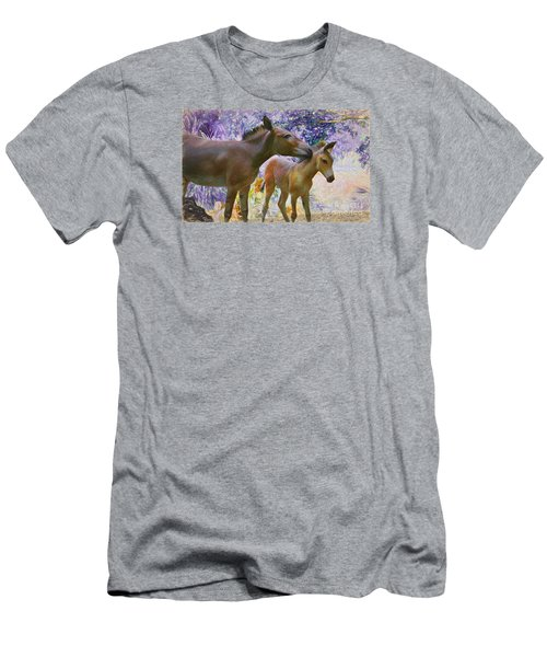 Men's T-Shirt (Slim Fit) featuring the painting The Kiss Edition 2 by Judy Kay