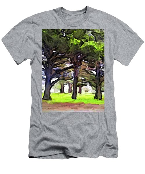 The Landscape With The Leaning Trees Men's T-Shirt (Athletic Fit)