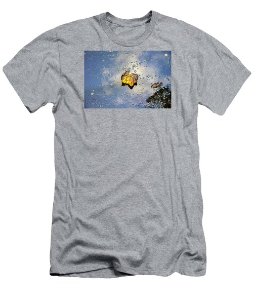 The Leaf And Liquid Sky Men's T-Shirt (Slim Fit) by Allen Carroll