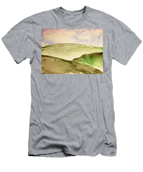 Men's T-Shirt (Slim Fit) featuring the painting The Little Hills Rejoice by Antonio Romero