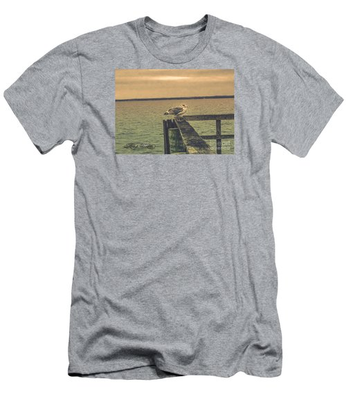 Men's T-Shirt (Slim Fit) featuring the photograph The Loner by Melissa Messick