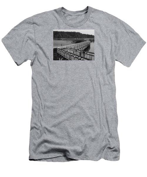 The Long Walk Men's T-Shirt (Slim Fit) by I'ina Van Lawick