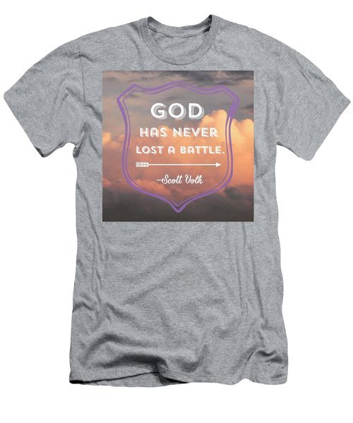 """the Lord Is My Strength And My Men's T-Shirt (Athletic Fit)"