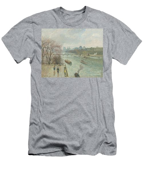 The Louvre, Afternoon, Rainy Weather, 1900  Men's T-Shirt (Athletic Fit)