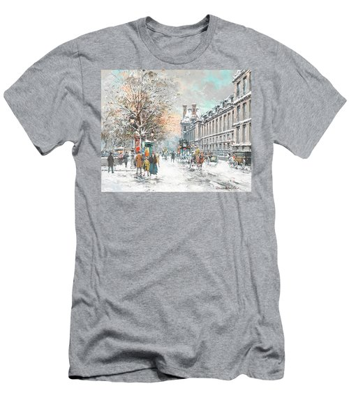 The Louvre-winter Men's T-Shirt (Athletic Fit)