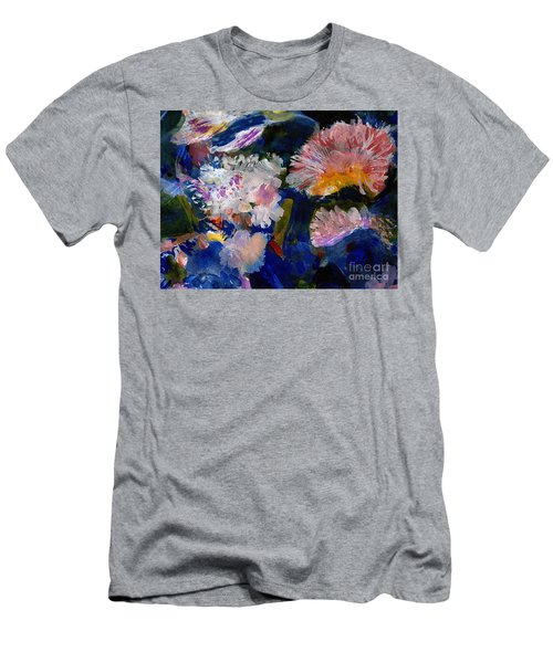 The Magic Of Flowers Men's T-Shirt (Slim Fit) by Nancy Kane Chapman