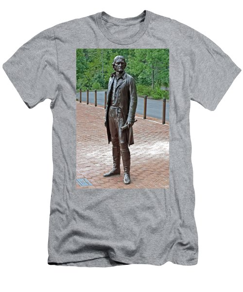 The Man Behind Monticello Men's T-Shirt (Slim Fit) by DigiArt Diaries by Vicky B Fuller