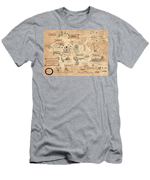 The Map Of The Enchanted Kira Men's T-Shirt (Athletic Fit)