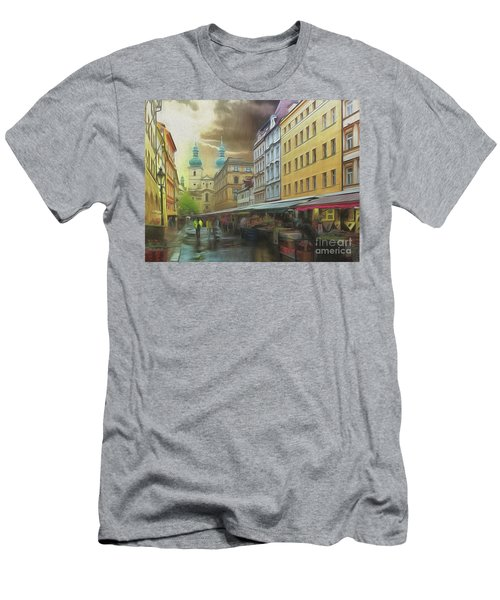 The Market In The Rain Men's T-Shirt (Athletic Fit)