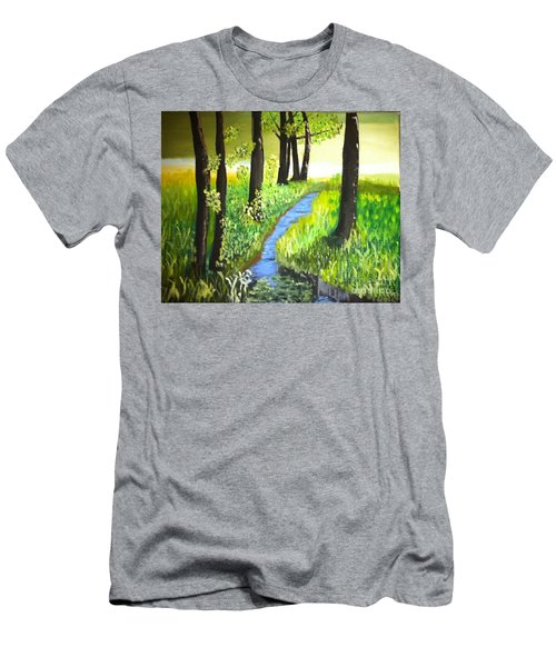 The Meadow Men's T-Shirt (Slim Fit) by Rod Jellison