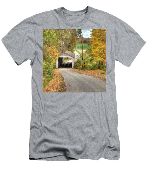The Melcher Covered Bridge Men's T-Shirt (Slim Fit) by Harold Rau