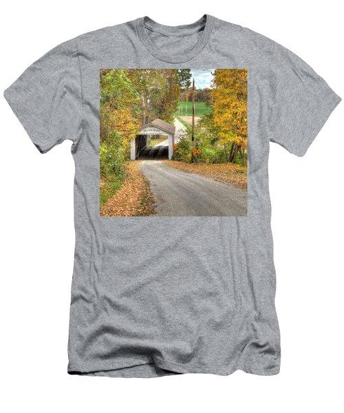 The Melcher Covered Bridge Men's T-Shirt (Athletic Fit)