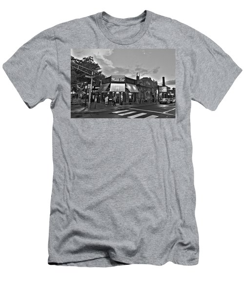 The Middle East In Central Square Cambridge Ma Black And White Men's T-Shirt (Athletic Fit)