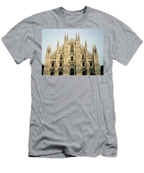 Men's T-Shirt (Athletic Fit) featuring the photograph The Milan Cathedral - Italy by Merton Allen
